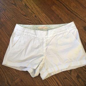 J. Crew White Cotton Chino Shorts Size 8